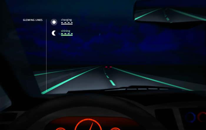 Smart Highway - Glowing Lines - Studio Roosegaarde